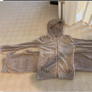 Juicy couture velour zip up hoody pants tracksuit